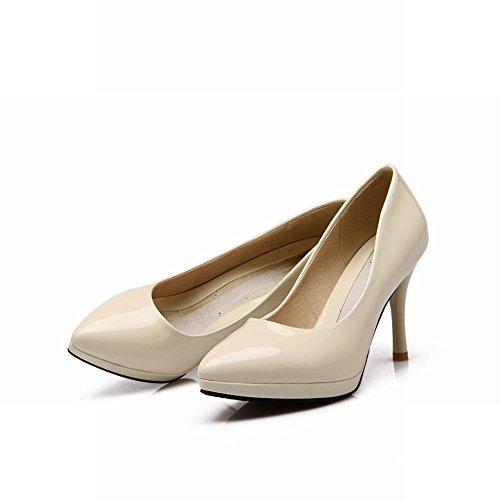 Carol Shoes Fashion Womens Sexy Pointed-toe Bridal Elegance High Stiletto Heel Dress Pumps Shoes Beige jELwJ3zoVa