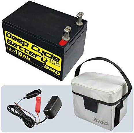 BMO JAPAN(ビーエムオージャパン) ディープサイクルバッテリー13Ah(本体・チャージャー・バッグセット) BM-D13-SET