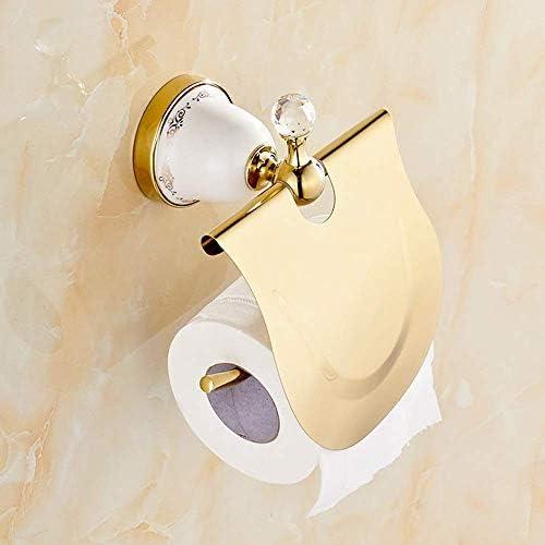 ShiSyan ティッシュホルダー ソリッド浴室ヨーロッパゴールド紙タオルホルダートイレットペーパーホルダートイレットペーパーボ
