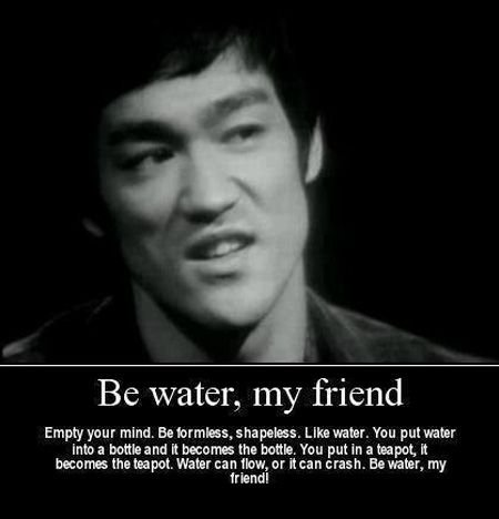 Be like water..Bruce lee's Poster 12x18 inch (Bruce Lee Be Water compare prices)
