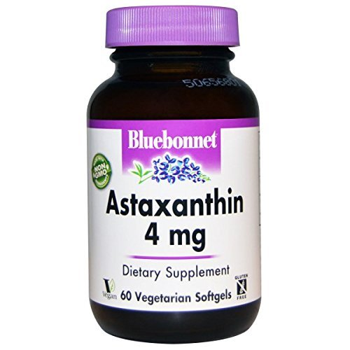 Bluebonnet Nutrition, Astaxanthin, 4 mg, 60 Veggie Softgels by Bluebonnet Nutrition