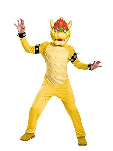 Bowser Deluxe Costume, Medium (7-8) -