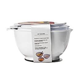 KitchenAid 3-Piece Mixing Bowl Set, White