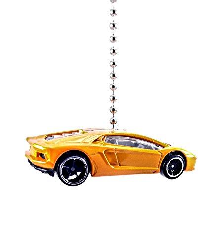 Hot Wheels LAMBORGHINI Diecast Ceiling Fan - Light Pull & Ornament 1:64 (Lamborghini Aventador - - Guy Mirror Hot
