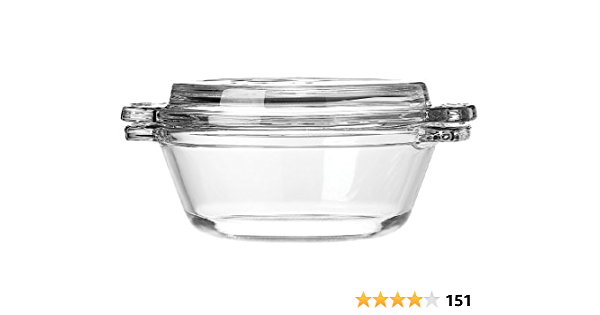 1 Anchor Hocking CLEAR GLASS Oven Basics CASSEROLE /& LID 20-oz BOWL DISH New