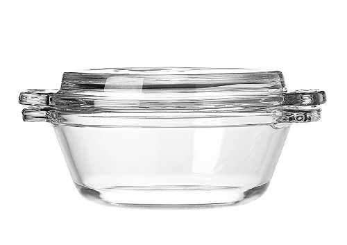 Glass Casserole Lid - Anchor Hocking 77889 Fire-King Casserole Baking Dish with Lid, Glass, 20-Ounce