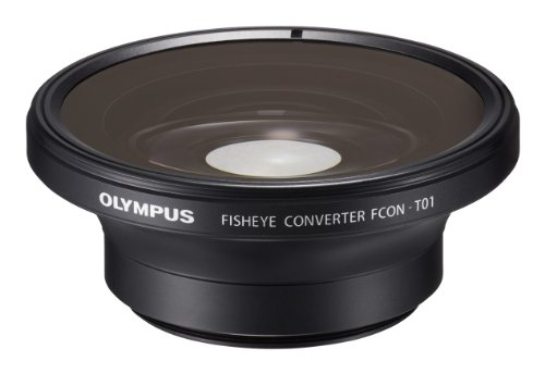 Olympus Fisheye Tough Lens Pack (lens and adapter) for TG-1 / 2 / 3 / 4 and TG-5 Cameras (Black with Red Adapter)