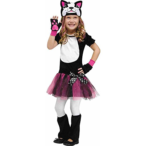 Fun World Toddler Girl's French Bulldog Child Toddler Costume Childrens Costume, Multi, Large ()