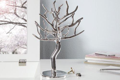 Großer Design Schmuckhalter LUXURY 30cm silber Schmuckbaum Schmuckständer -