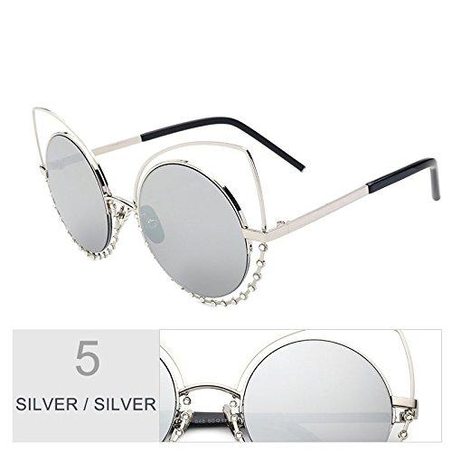 TIANLIANG04 Del Través De Gafas Objetivo Reflejado Silver Metal Eyewear De Dibujo Sol Silver De Gato Del Mujer Moda Estructura Ojo Silver Beat Vintage A Gafas De Silver Diamante De rxqwX1r5T
