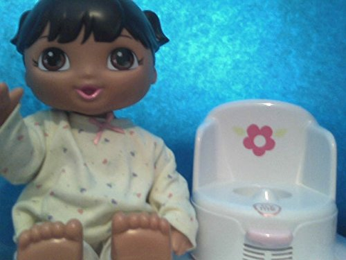 Talking dress up Ready for Potty Dora Doll with potty Chair, Loose Out of Package As Shown in Photos