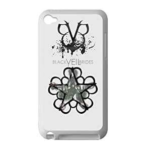Custom Black Veil Brides BVB Andy Six With Other Band Members Case Cover Protector Compatible with IPod Touch 4 TPU (Laser Technology)