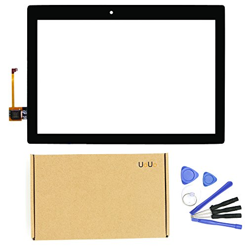 UoUo 10.1 Inch Replacement Digitizer Touch Screen Glass For Lenovo Tab 2 A10-70F A10-70L Tablet PC with 8pcs tools gift (Black)