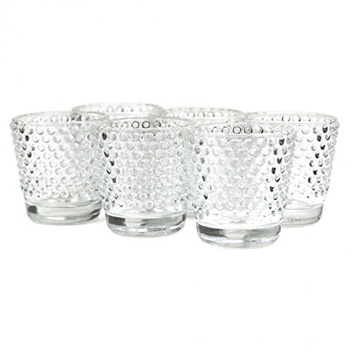 Koyal Wholesale Hobnail Glass Candle Holder (Pack of 6), 2.5 x 2.4 for $<!--$14.99-->