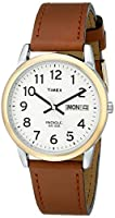 Timex Easy Reader Day-Date Leather Strap...