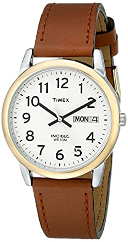 Timex Men's T20011 Easy Reader Brown Leather Strap Watch (Mens Strap Watches)