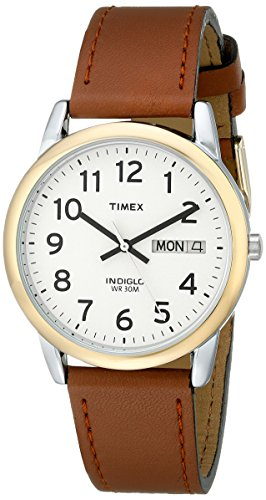 Timex Men's T20011 Easy Reader Brown Leather Strap (Timex Ez Reader)