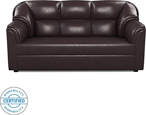 Westido Leatherette 3 Seater Sofa  Finish Color   Brown