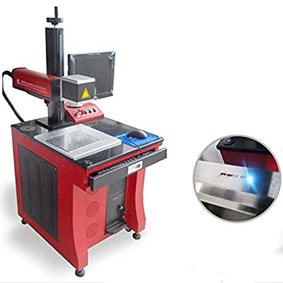 Kohstar Heavy Duty rotary fiber laser marking machine metal laser marking Tool Engraving Machines 20W