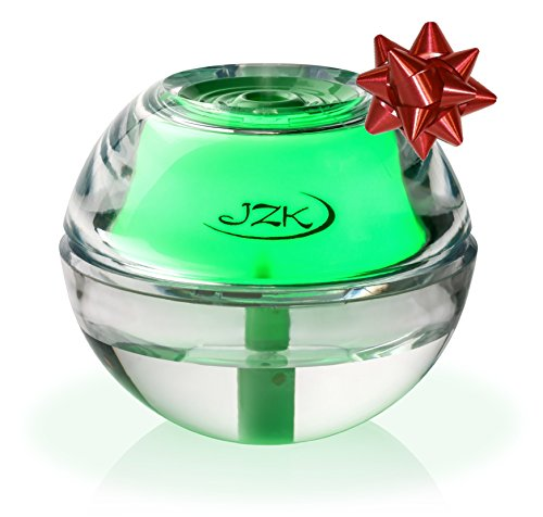 Green Humidifier for Allergies, Nasal Congestion, Dry Sinuses, Sinusitis, Nose Bleeds, Sinus Infection by JZK | Mini Portable Humidifier with Night Light, Safety Shut-off, USB, Adapter, Filter 4-8 Hr