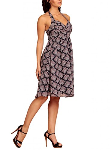 MY EVENING DRESS - Vestido - cuello hálter - Floral - Sin mangas - para mujer Parsley Print Dark Blue