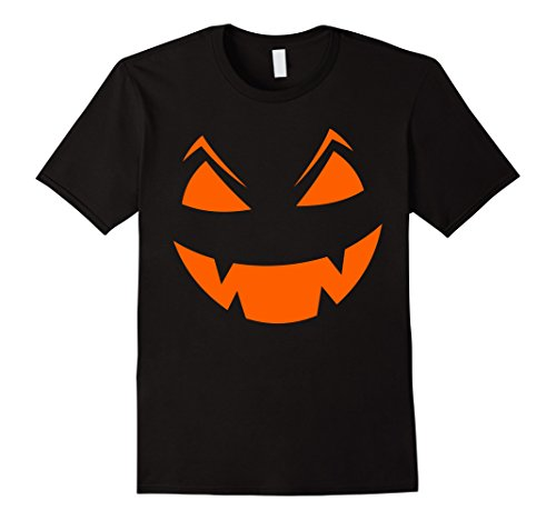 Mens Scary Halloween Pumpkin T-Shirt # Neon Orange Glow XL (Really Scary Halloween Pumpkin Faces)