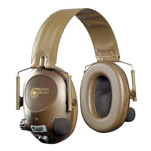 (3M Peltor Soundtrap Slimline Electronic Headset Olive Green - Headband Model)