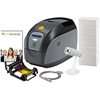 ID Card Maker - Zebra ZXP Series 1 Single-Side ID Printer + Supplies