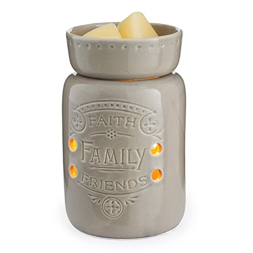 CANDLE WARMERS ETC. Midsize Illumination Fragrance Warmer, Faith, Family, Friends -
