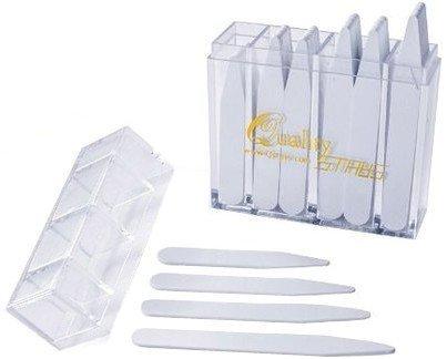 100 estanterías de plástico para cuello, Blanco, mix sizes (2' 2.2' 2.5' 2.75')