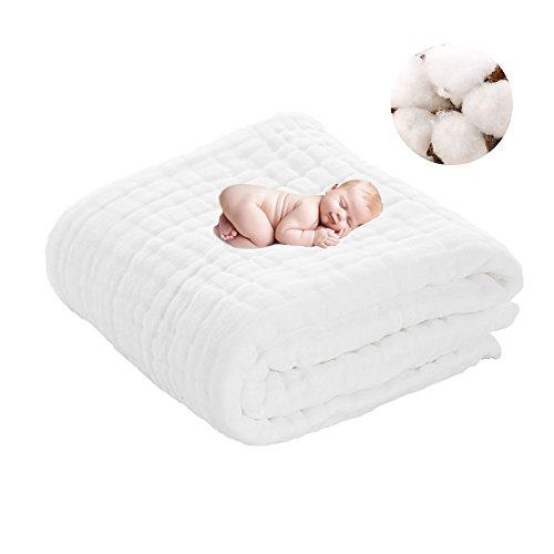 Angelland Baby Cotton Gauze Bath Towel Blanket Multi Layers