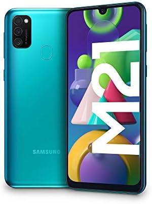Samsung Galaxy M21, Smartphone, Display 6.4″ Super AMOLED, 3 Fotocamere Posteriori, 64GB Espandibili, RAM 4 GB, Batteria 6000 mAh, 4G, Dual Sim, Android 10, 188 g, [Versione Italiana], Green