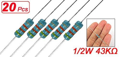 /Farbe Sortiert Sourcingmap a11102400ux0144/1//2/W 43/K Ohm 43/KR Carbon Folie Widerstand/ 20