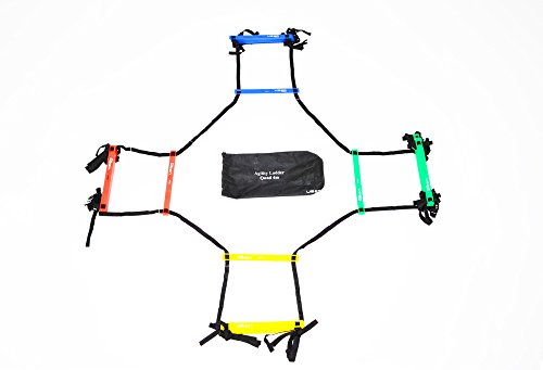 Uber Soccer Speed and Agility Ladder - Adjustable Plastic Rung - Quad by Uber Soccer