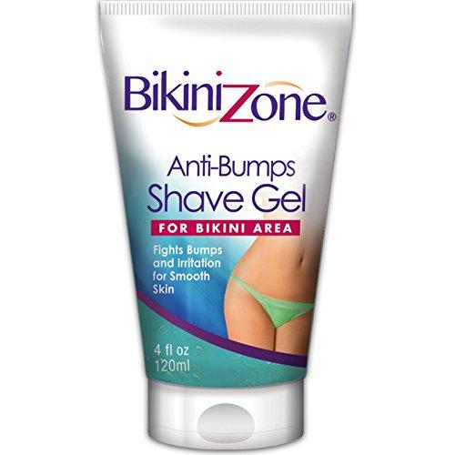 Bikini zone shave gel