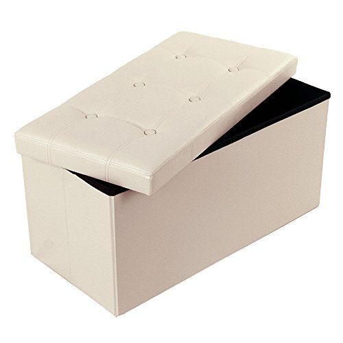 songmics-folding-storage-ottoman-coffee-table-foot-rest-stool-faux-leather-beige-ulsf40m
