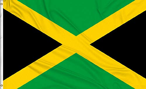 - Aimto 3x5 ft Jamaica Flag - Bright Colors And Anti-Fading Materials - Jamaican National Flags Polyester Canvas And Brass Buttonhole - Quality Assurance