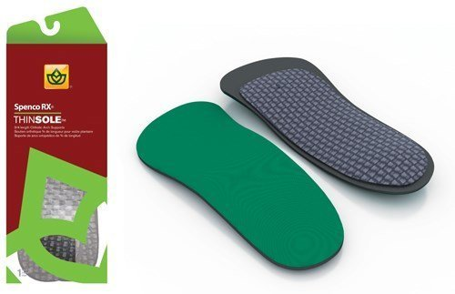 ThinSole Orthotic 3/4 Arch Support Size M 12-13 by Spenco