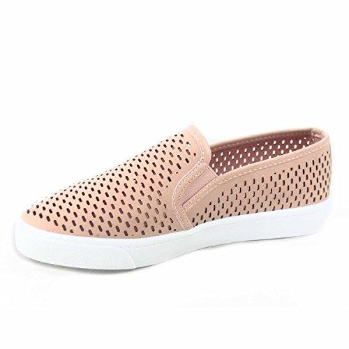 Soda Alpacas Dames Causale Slip Op Witte Zool Ronde Neus Boot Sneaker Schoenen D-mau