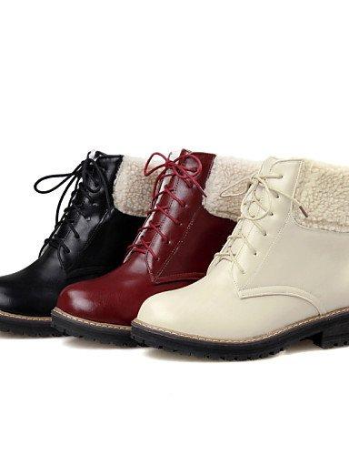 Vestido Negro Xzz Black 5 Uk8 Robusto Semicuero Beige A De Zapatos Mujer Tacón us10 Botas La Red Cn43 5 Eu37 Uk4 Vellón 7 Rojo Punta us6 Moda Cn37 Redonda Eu42 5 5 Casual 5 qwPZqxr4