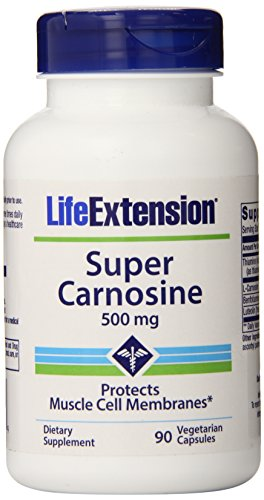 Life Extension Super 500mg Carnosine 90 vegetarian capsules
