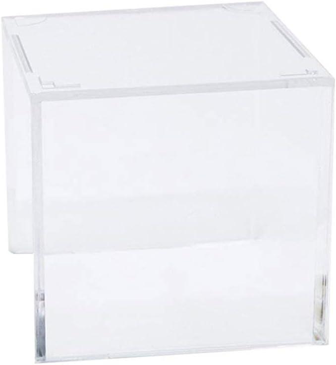 BESPORTBLE Caja de Béisbol Soporte de Béisbol Cuadrado Claro Soporte de Almacenamiento de Acrílico Vitrina Soporte Protección UV para Pelota de Ping-Pong de Tenis de Softball (Transparente)