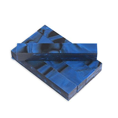 Legacy Woodturning, Acrylic Pen Blank, Indigo blue with black line, 5