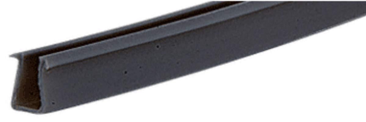 CRL Flat Black Semi-Rigid Showcase Vinyl for 1/4'' Glass - 12 ft long by C.R. Laurence