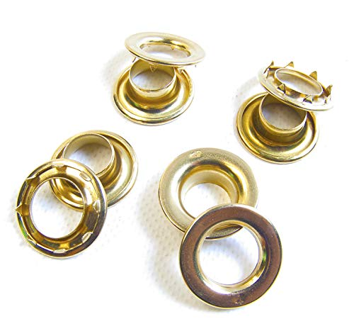 Brass #4 217-4 Rolled Rim Spur Grommets Sold by The Gross (144) by #4 Rolled Rim Spur Grommets (Image #2)