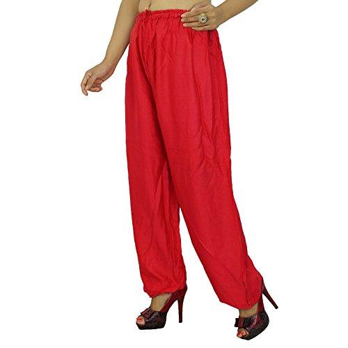 Rayón pijamas pantalones las mujeres gitanas pantalones pantalones de verano de Bohemia Pantalones de regalo para ella Rouge