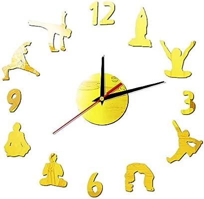 HLDY Figura de Yoga 3D Reloj de Pared Modern Decign ...