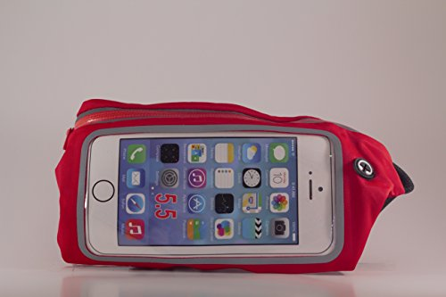 Cellphone fanny packFanny pack cell phone holder Cell Phone Waistband Running Fanny Pack for iPhone 6, 6 Plus +, 5, 4, iPod Touch, Samsung Galaxy phones, Note 4, 5, Edge, Universal (Ipod Belt)