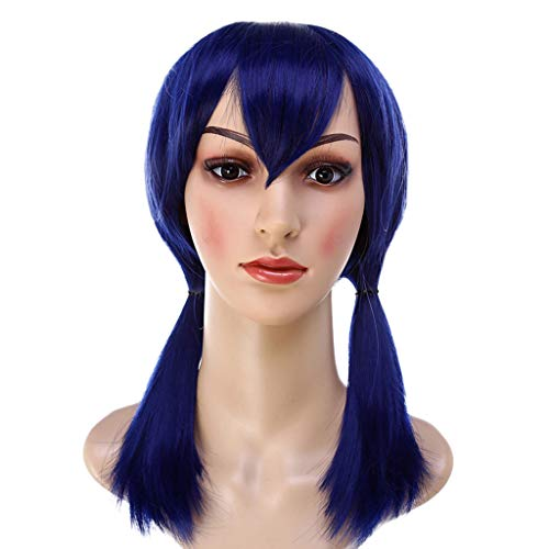Gallity Girls Student Style Cosplay Wig COS Hair Miraculous Ladybug Cos Wig Double Ponytail Anime Cosplay Wig for Women (A) ()