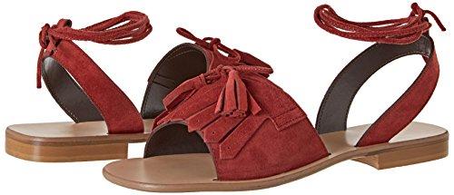 corallo Tacón Rosso Punta Zapatos Cerrada De Secolo Mujer Pennyblack CWSqzq